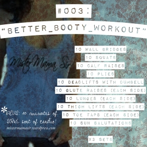 Workout of the Day #003: Better Booty Workout